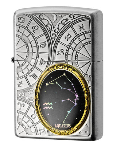 Zippo Lighter 12 Constellation Metal Aquarius