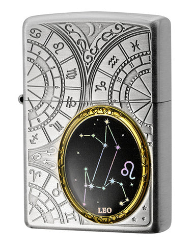 Zippo Lighter 12 Constellation Metal Leo