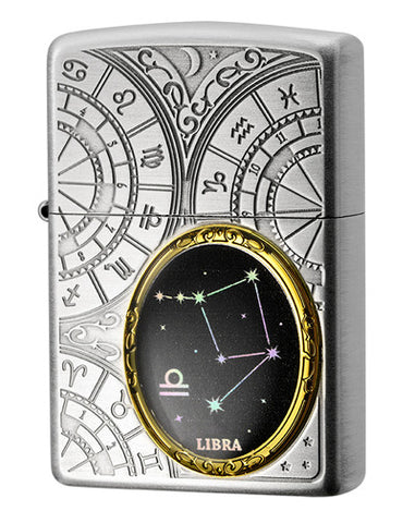 Zippo Lighter 12 Constellation Metal Libra