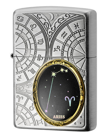 Zippo Lighter 12 Constellation Metal Aries
