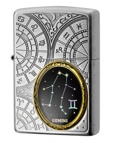 Zippo Lighter 12 Constellation Metal Gemini