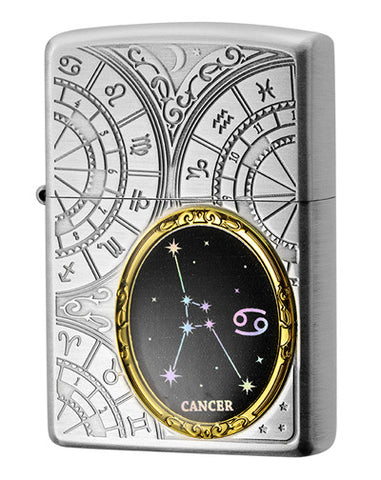 Zippo Lighter 12 Constellation Metal Cancer