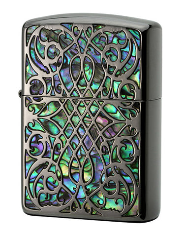 Zippo Lighter Armor Shell Inlay Shell - Arabesque BK