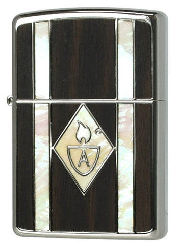 Zippo Lighter Armor Wood & Shell 162WS-WH Natural-shell Wood Inlay