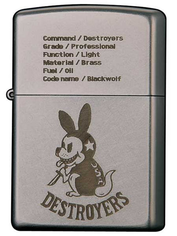 Zippo Lighter DESTROYERS 20F - BLACKWOLF Code name Blackwolf