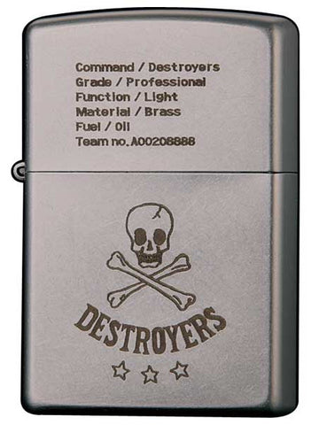 Zippo Lighter DESTROYERS 20F - COLDBUNNY Team no A00208888