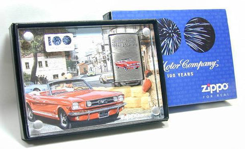 Zippo Lighter Choice Collection 2003 Spring Limited Ford Centenary 1964 1/2 Mustang 20388 Made in 2002