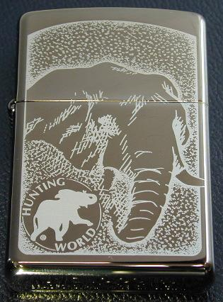 Zippo Lighter Discontinued Item HUNTING WORLD #150 BLACK ICE
