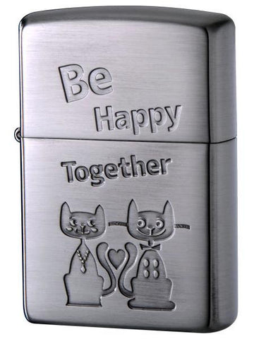 Zippo Lighter Cat series 202-HAPPY-D Be Happy Together