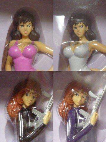 All four Lupin III DX Figure Fujiko Mine Collection (japan import)