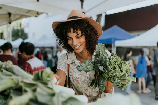 Get fresh produce for your birds at the local farmers market