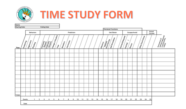Download Time Study Form