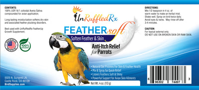 UnRuffledRx FeatherSoft Itching Parrot Relief