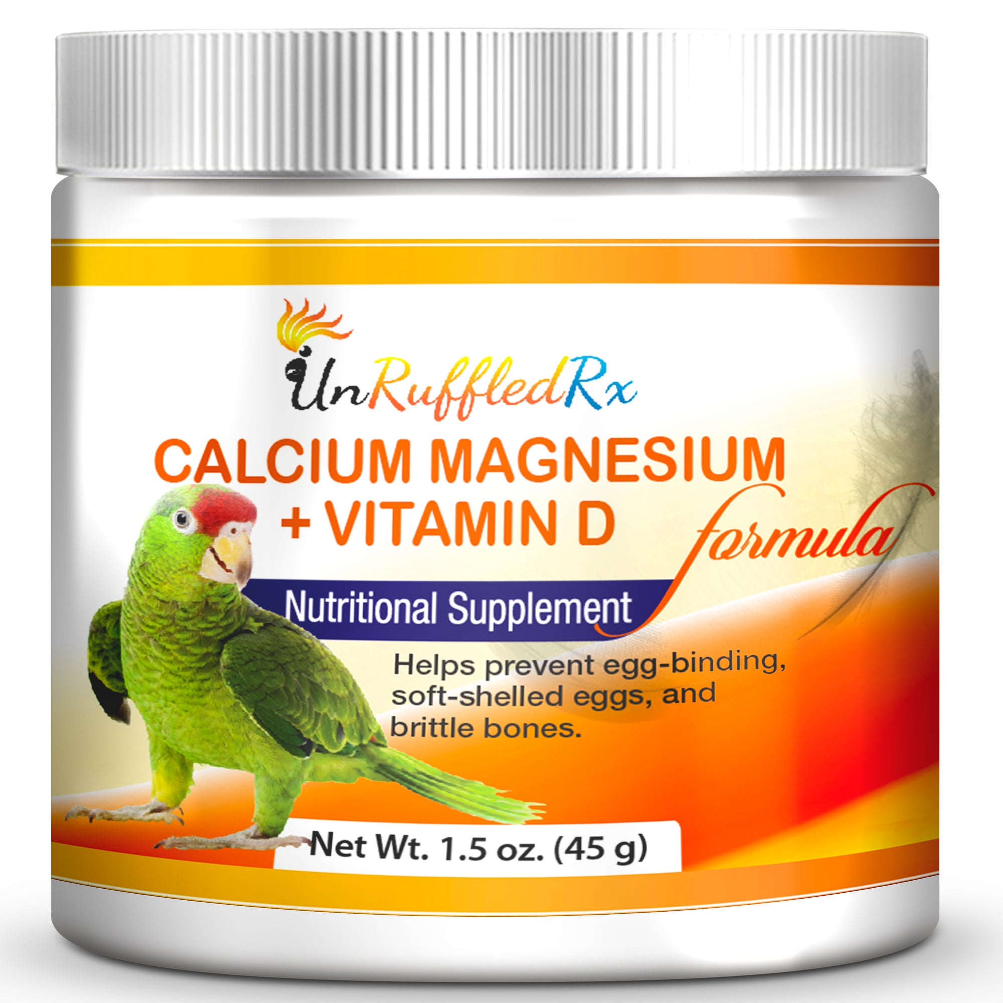 UnRuffledRx Calcium, Magnesium +D3 Parrot Calcium Supplement