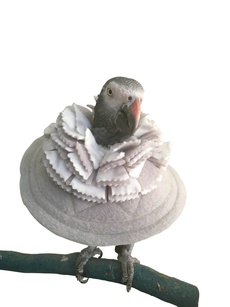 Fringy Bird Collar for Severe Feather Plucking