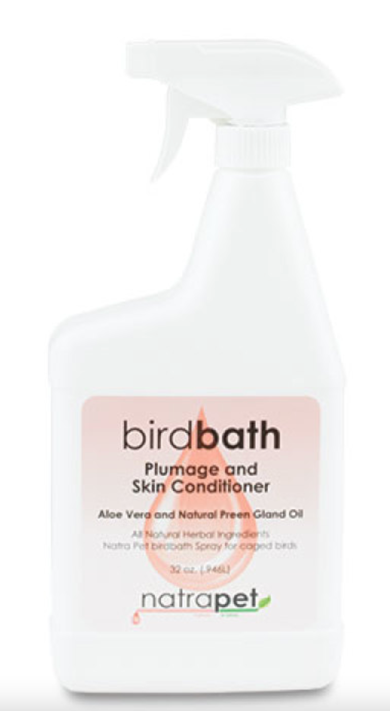 NatraPet Bird Bath Spray with Preening Oils 8 oz.