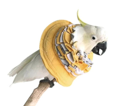 UnRuffledRx Fringy Bird Collar for Severe Feather Plucking