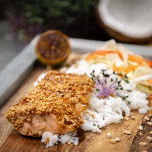 Peanut Crusted Salmon (GF + DF)