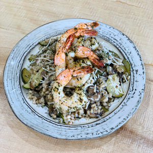 Herb Roasted Shrimp & Barley Risotto