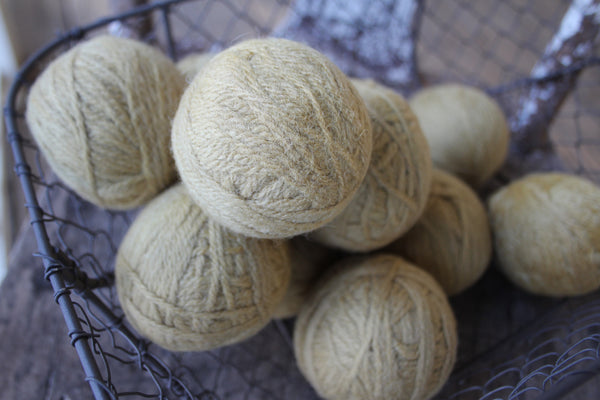 Little Balls of Laundry Sunshine - Dryer Balls made of Wool