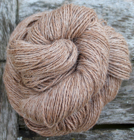 'Tea' Alpaca/Mohair/Shetland DK Weight 2-ply Yarn