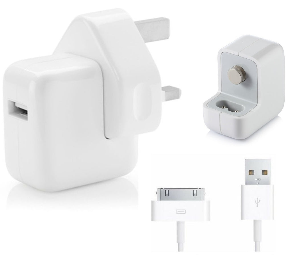 Genuine Apple 10W Mains Charger Plug + Data Sync Cable