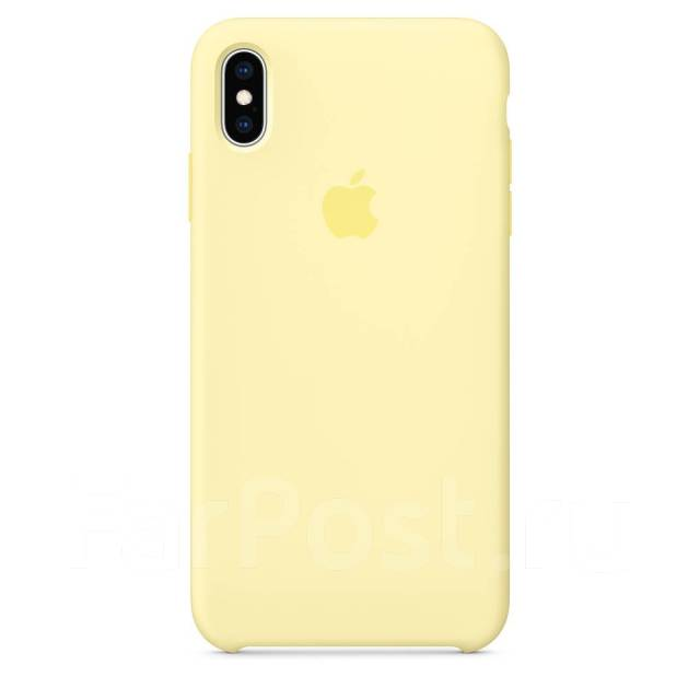 Genuine Apple iPhone X iPhone XS Silicone Back Case Cover - Mellow