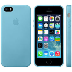 Genuine Official Apple Blue iPhone 5S 5 SE Premium Leather Case Cover Authentic