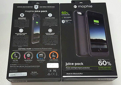 competitive price f2938 4cf89 Mophie Juice Pack Extended BUILT IN BATTERY CASE FOR iPhone 6S Plus & 6  Plus 5.5