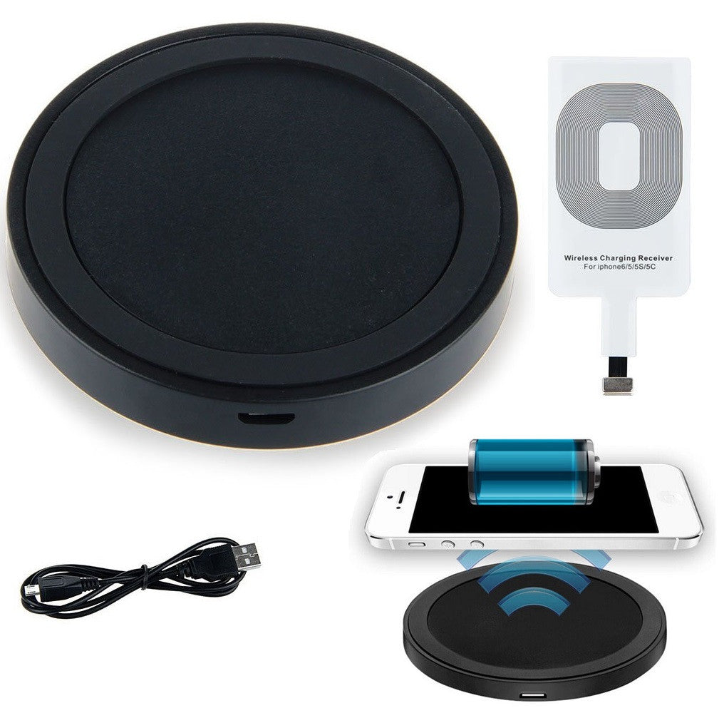 Qi Wireless Charger Pad Kit For Apple Iphone 7 6s 6 Plus 5