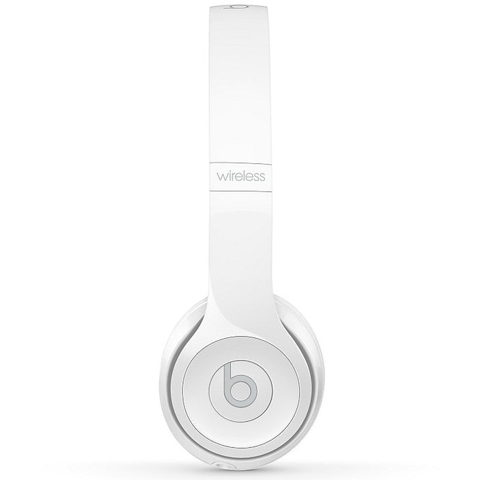 Beats Solo3 On-Ear Wireless Bluetooth Headphones - White Gloss