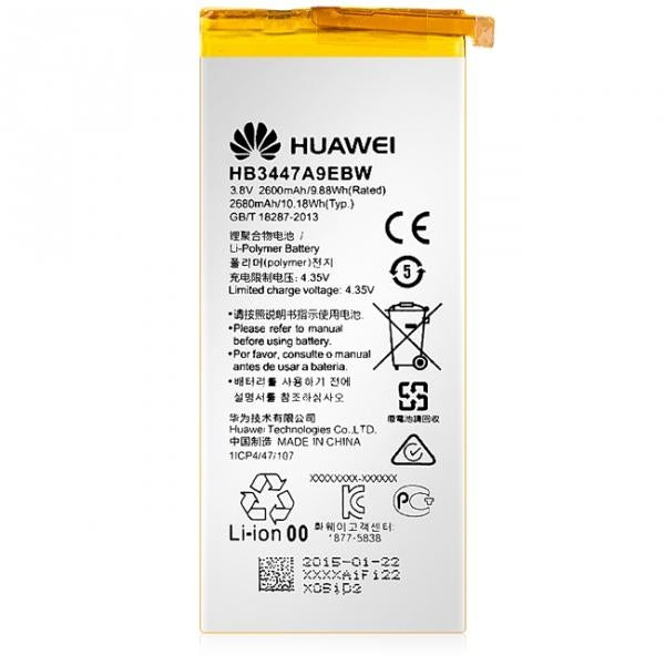 Genuine Huawei Replacement Battery HB3447A9EBW 3.8V 2600mAh P8 Ascend