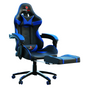 Astro Pro Racing Gaming Office Chair + Foot Rest Lumbar Support Pu Leather Black/Blue