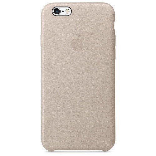 Official Apple iPhone 6 6S Leather Back Case Cover - Grey