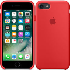 Official Apple iPhone 7 iPhone 8 Silicone Back Case Cover - Product Red