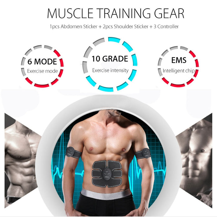 EMS Abs Muscle Stiumlator Workout Exercise Trainer Toner