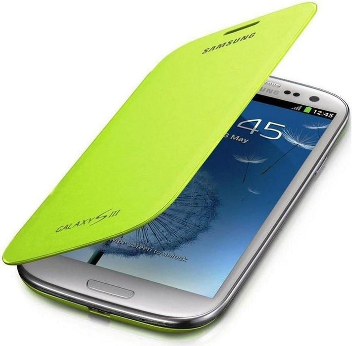 Official Samsung Galaxy S3 Flip Case Cover Green - EFC-1G6FMEC