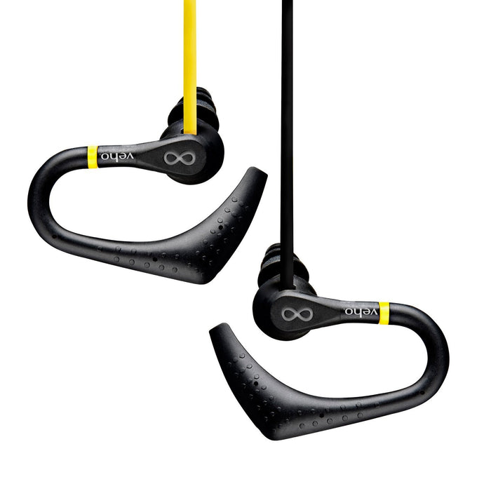 Veho Water Resistant Sports Earphones Headphones - Yellow/Black