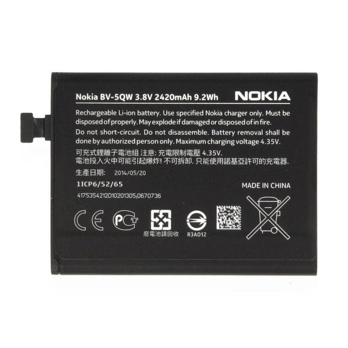 Genuine Nokia Lumia 930 Battery BV-5QW 2420mAh