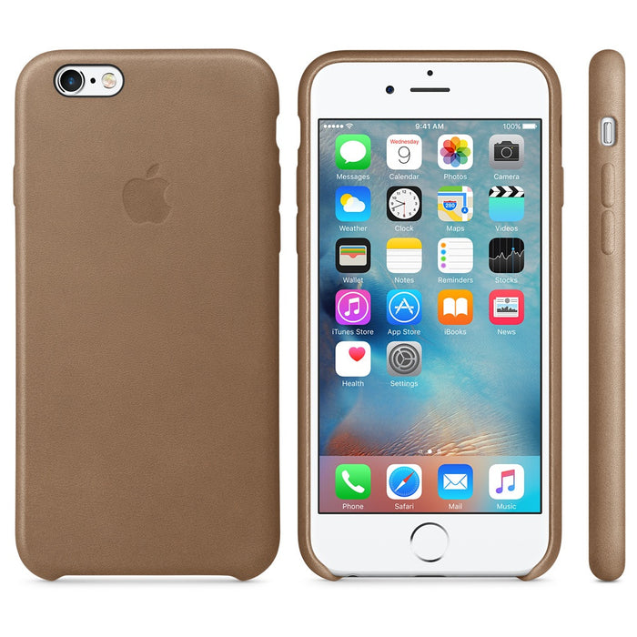 d70f49003c Official Apple iPhone 6 6S Leather Back Case Cover - Brown — Doohickey Hut