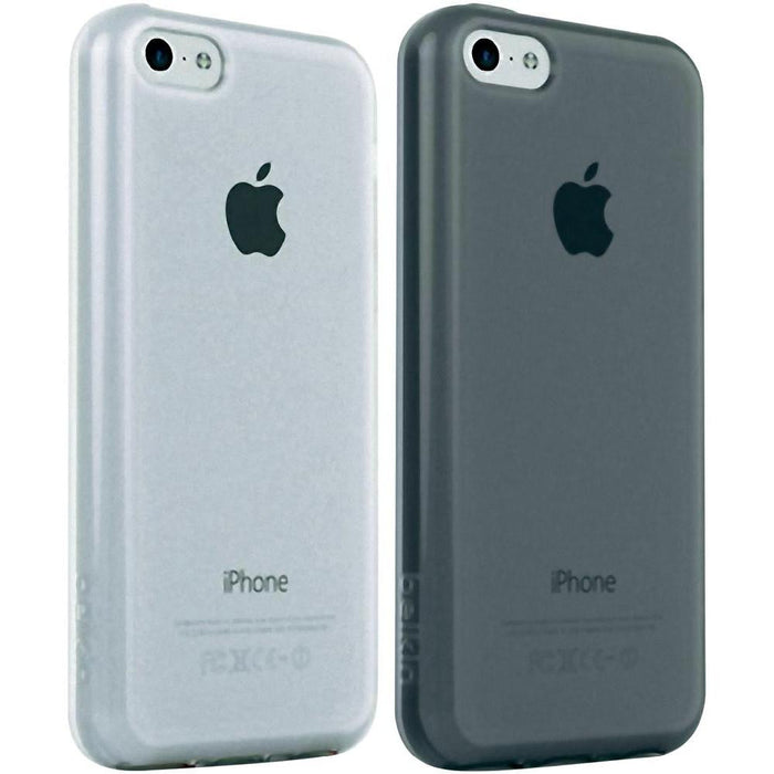 Belkin iPhone 5C Slim Micra Sheer Matte Case Cover Clear Twin Pack