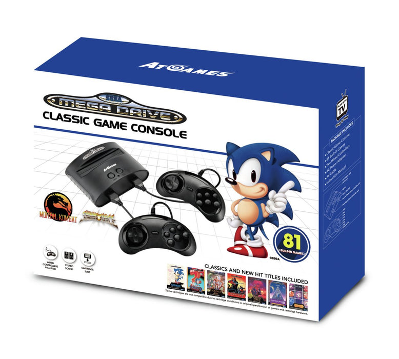Sega Mega Drive Classic with 81 Built-In Games