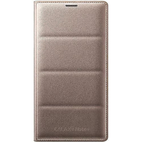 Official Samsung Flip Wallet Gold Cover Case for Samsung Galaxy Note 4