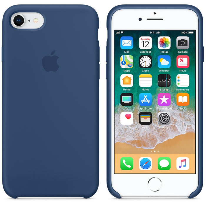 Official Apple iPhone 7 iPhone 8 iPhone SE 2020 Silicone Back Case Cover - Cobalt Blue