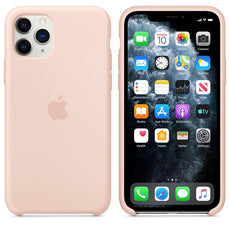 Apple iPhone 11 Pro Silicone Back Case Cover - Sand Pink