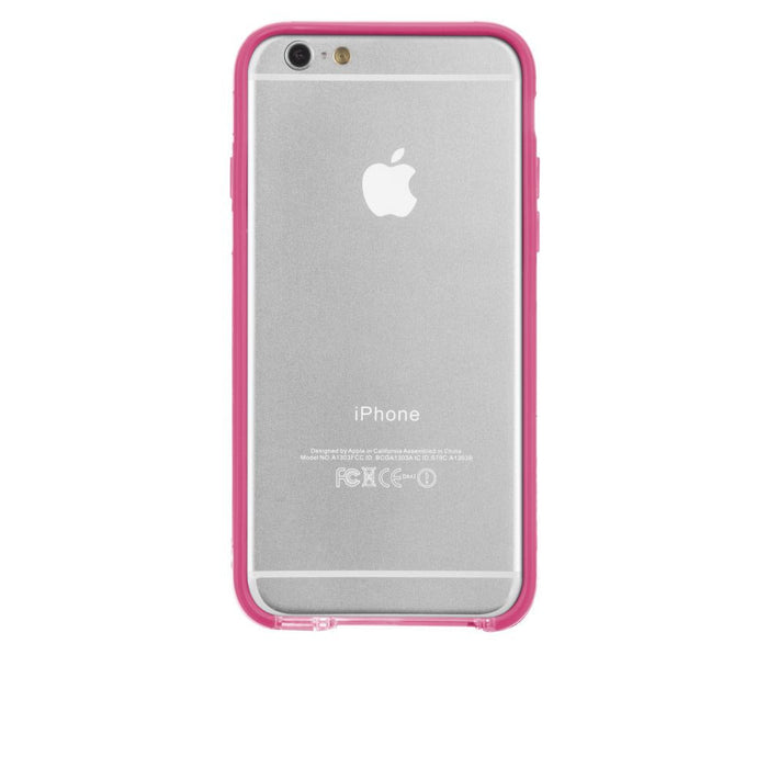 Case-Mate Tough Frame Case for Apple iPhone 6/6s in Clear/Pink