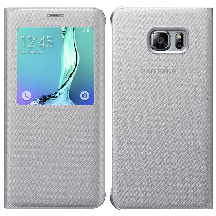 Official Samsung Galaxy S6 Edge + Plus S View Cover Case - Silver
