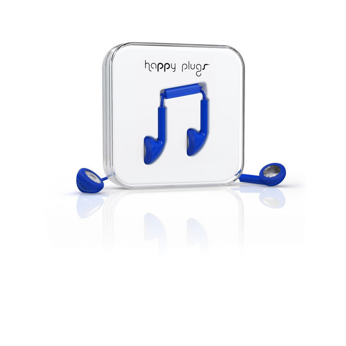 Happy Plugs EarBud Earphones in Cobalt