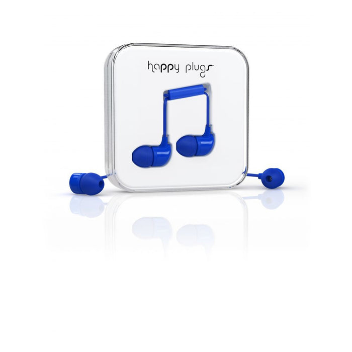 Happy Plugs In-Ear Earphones in Cobalt