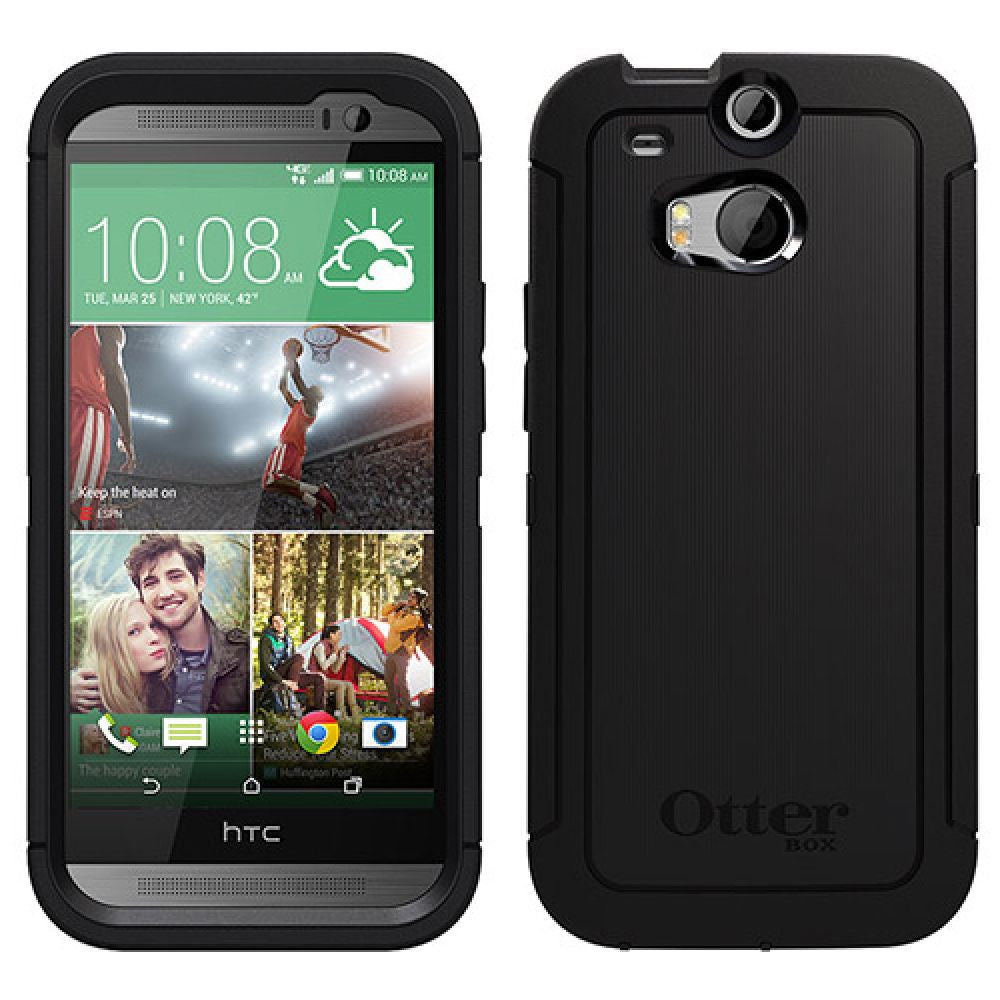 online store f846e cea72 OtterBox Defender Series Case for HTC One M8 in Black